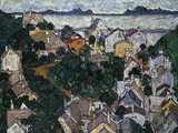 Summer Landscape; Sommerlandschaft, 1917 Giclee Print by Egon Schiele
