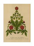The Rose, Thistle and Shamrock. The Floral Badges of England, Scotland and Ireland Giclee Print by  English School