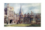 Brasenose College, Old Quad Giclee Print by William Matthison