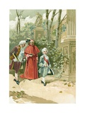 Louis XV as a Child in the Tuileries Garden Giclee Print by  Spanish School