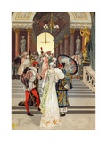 A Masked Ball in Paris at the End of the 18th Century Giclee Print by  Spanish School