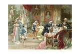The Court of King Louis XV of France Giclee Print by  Spanish School