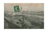 Eleven Torpedo Boats under Construction by Schneider and Co in Chalon-Sur-S Giclee Print by  French Photographer