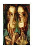 Two Heads, c.1928 Giclee Print by Alfred Henry Maurer