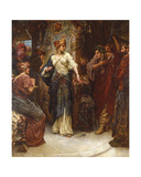 Penelope and the Suitors, 1900 Giclee Print by Victor John Robertson