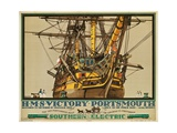 H.M.S. Victory, Portsmouth, Poster Advertising Southern Electric Railways Giclee Print by Kenneth Shoesmith
