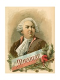 Honore Gabriel Riqueti, Comte de Mirabeau Giclee Print by  Spanish School