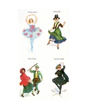 Dancers of the British Isles, Cigarette Cards, 1915 Giclee Print by  English School