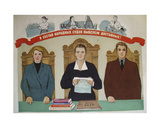 We Shall Elect the Most Deserving for the Peoples' Court, 1957 Giclee Print by Galina Konstantinovna Shubina
