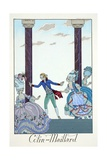 Blind Man's Bluff, from 'Falbalas and Fanfreluches, Almanach des Modes Présentes, Passées et… Giclee Print by Georges Barbier