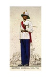 Company Sergeant-Major of the British Guiana Military, 1938 Giclee Print