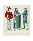 Male Costumes, 1360-1365 Giclee Print by  French School