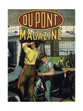 Automobile Repair, Front Cover of the 'Dupont Magazine', January 1919 Giclee Print by  American School
