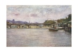 The Pont des Arts (Late Afternoon) Giclee Print by Mortimer Ludington Menpes