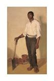 Portrait of Negro Gardener, c.1905 Giclee Print by Harold Gilman
