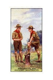 Scoutmaster and Assistant Scoutmaster, 1929 Giclee Print by  English School