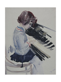 Girl at the Piano, 1936 Giclee Print by Galina Konstantinovna Shubina
