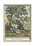 The Bear and the Lover of Gardins Giclee Print by  French School