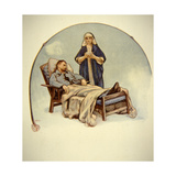 French Nurse Tending a Sick Soldier in World War One, 1916 Giclee Print by Auguste Roll