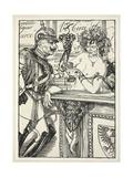 Veritable Liqueur Circ, Illustration from the Kaiser's Garland by Edmund J. Sullivan, Pub. 1916 Giclee Print by Edmund Joseph Sullivan