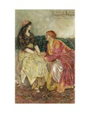 The Arabian Nights: The Princess Explained All That Had Happened to Her Giclee Print by Walter Stanley Paget