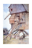 British Observation Post in a Windmill in Flanders, 1918 Giclee Print by Francois Flameng
