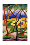 Playing Weasels; Spielende Wiesel, 1911 Giclee Print by Franz Marc