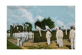 Postcard of German Soldiers Exercising, Sent on 11th June 1913 Giclee Print by  German photographer