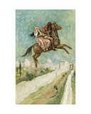 The Arabian Nights: The Enchanted Horse Giclee Print by Walter Stanley Paget