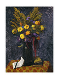 French Marigold, Purple Daisies and Golden Sheaves; Oeillets d'Inde, Marguerites Violettes et… Giclee Print by Felix Edouard Vallotton