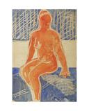 Nude in Blue, c.1960 Giclee Print by Nina Ivanovna Shirokova