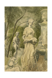 Garden Statues, 1955 Giclee Print by Osmund Caine