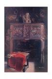 Carved Oak Dressoir - Louis XII Giclee Print by Edwin John Foley