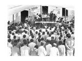 Meeting of the Campesinos: at the Table Xavier Guerrero and Julio Antonio Mella, Jalapa, Mexico,… Photographic Print by Tina Modotti