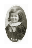 Tina Modotti at Age 4, Ferlach, Austria, 1901 Giclee Print by  Austrian Photographer