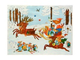 Christmas Bear, 2011 Giclee Print by Christian Kaempf