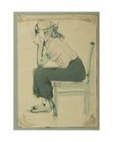 Girl on Chair, c.1950 Giclee Print by Nina Ivanovna Shirokova