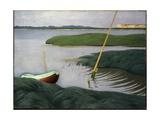 Boat at Berville, 1918 Giclee Print by Felix Edouard Vallotton