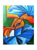 Dance in Blue, 2008 Giclée-Druck von Patricia Brintle