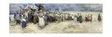 The Beach, Berck-Sur-Mer, c.1900 Giclee Print by Patty Townsend Johnson