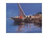 Boat Yard, Kilifi, 2012 Stampa giclée di Lincoln Seligman