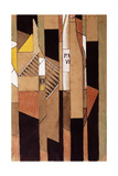 Still-Life with Bottle and Cigars; Nature Morte Avec Bouteille et Cigares, 1912 Giclee Print by Juan Gris