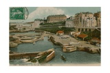 Biarritz, Le Port des Pecheurs. Postcard Sent on 25 October 1913 Giclee Print by  French Photographer