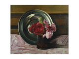 Still Life with Roses; Nature Morte Aux Roses, 1920 Giclee Print by Felix Edouard Vallotton
