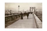 The Brooklyn Bridge Promenade, Looking Towards Manhattan, 1903 Giclee Print by Joseph Byron
