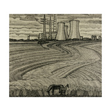 Horses and Industrial Landscape, 1979 Giclee Print by Masabikh Akhunov