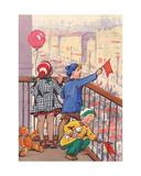 May Demonstration, Postcard Design, 1958 Giclee Print by Svetlana Ryazanova