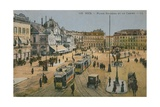 Place Massena and the Casino, Nice. Postcard Sent in 1913 Giclee Print by  French Photographer