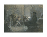 Coal Miners Giclee Print by Vadim Petrovich Volikov