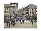 French Soldiers in the Marketplace at Ratingen, Following the Occupation of the Rhineland… Giclee Print by  French Photographer